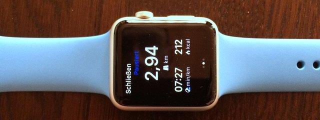 Die Apple Watch beim Laufen